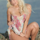 Melissa A strips her flowery dress as she bares her smoking hot body in the   outdoors.