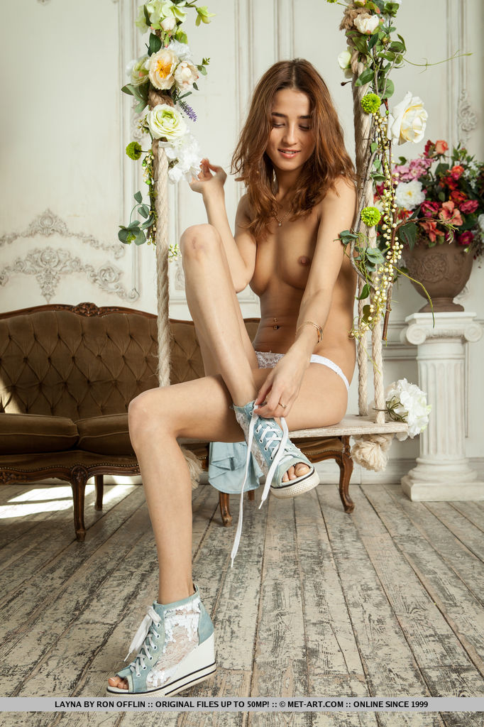 Layna brightens up the whole room as she flaunts her sweet, endearing looks and youthful, tender body.