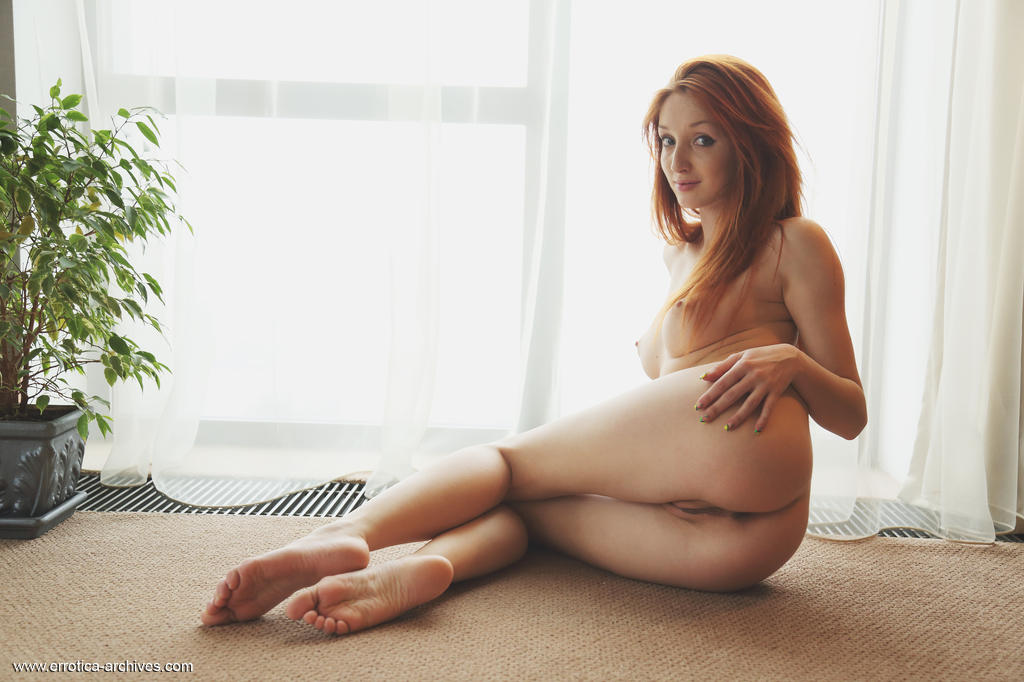Micca strips and shows off her amazing lustful body with pink erect nipples and tight ass as poses erotically by the window.