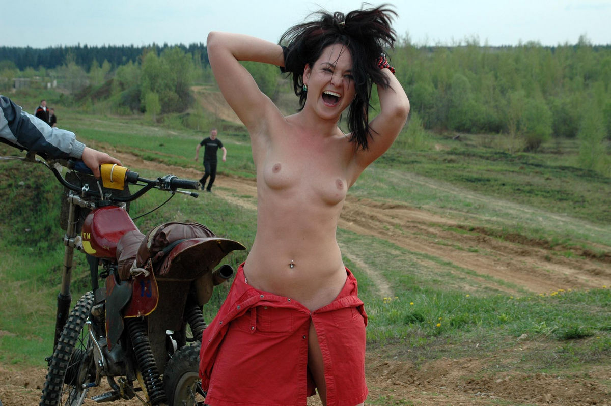 Join. agree Hot girls naked on dirt bike theme