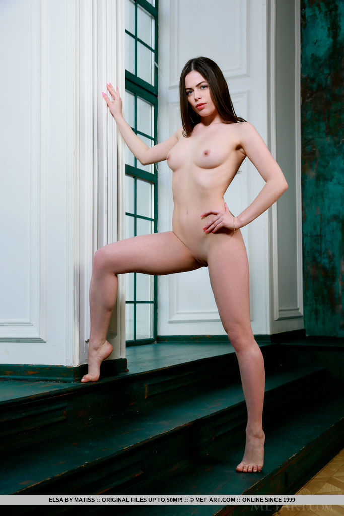 Newcomer Elsa displays her creamy, white body by the window.