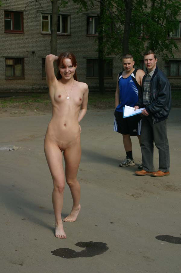 A thin young girl Tanya in the university