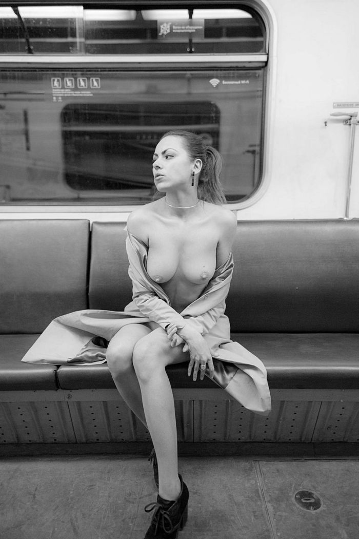Video woman nude in subway