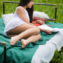 Cira Nerri strips in the forest baring her delectable, nubile body.