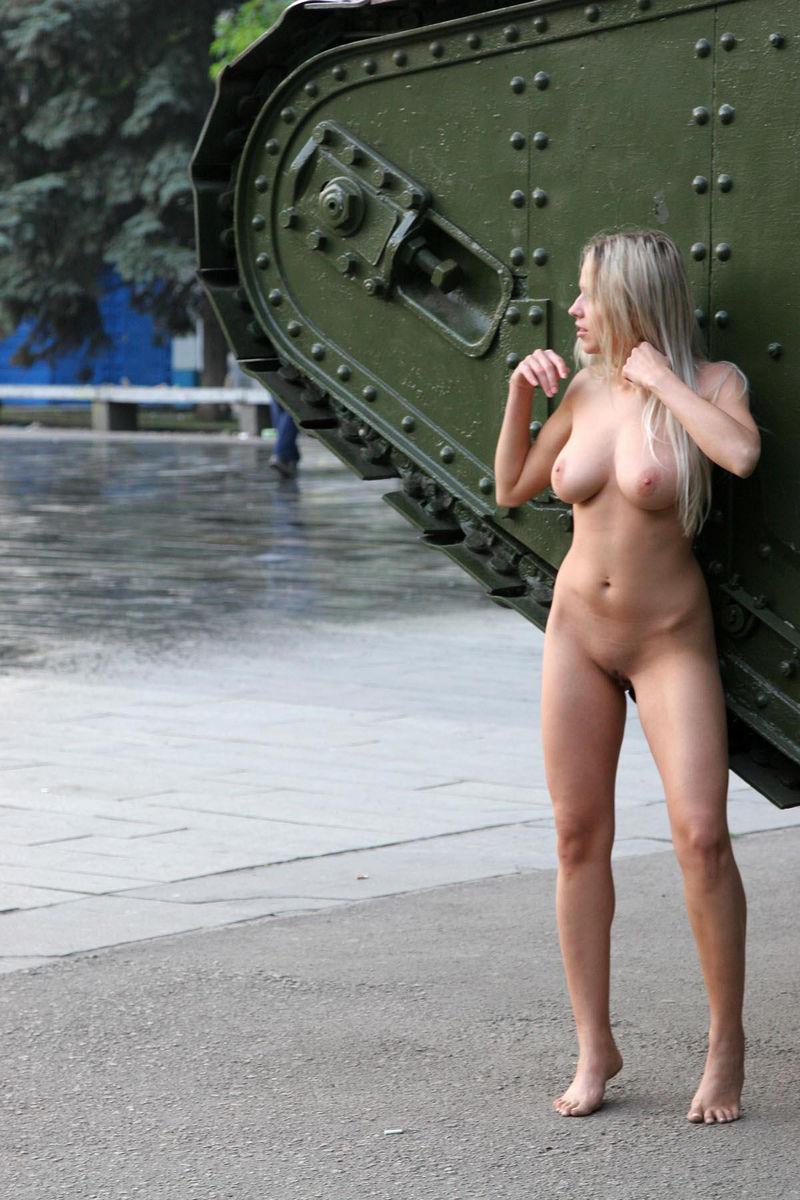 Girls on tanks