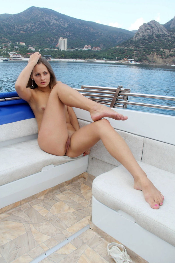 Naked legs spread