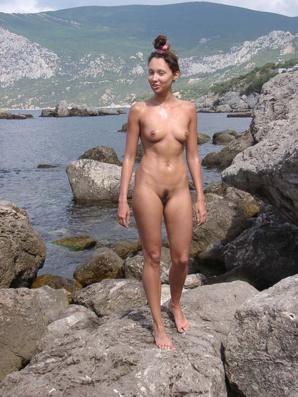 Teen Ulia With Sporty Body At Public Not-Nude Beach -3503