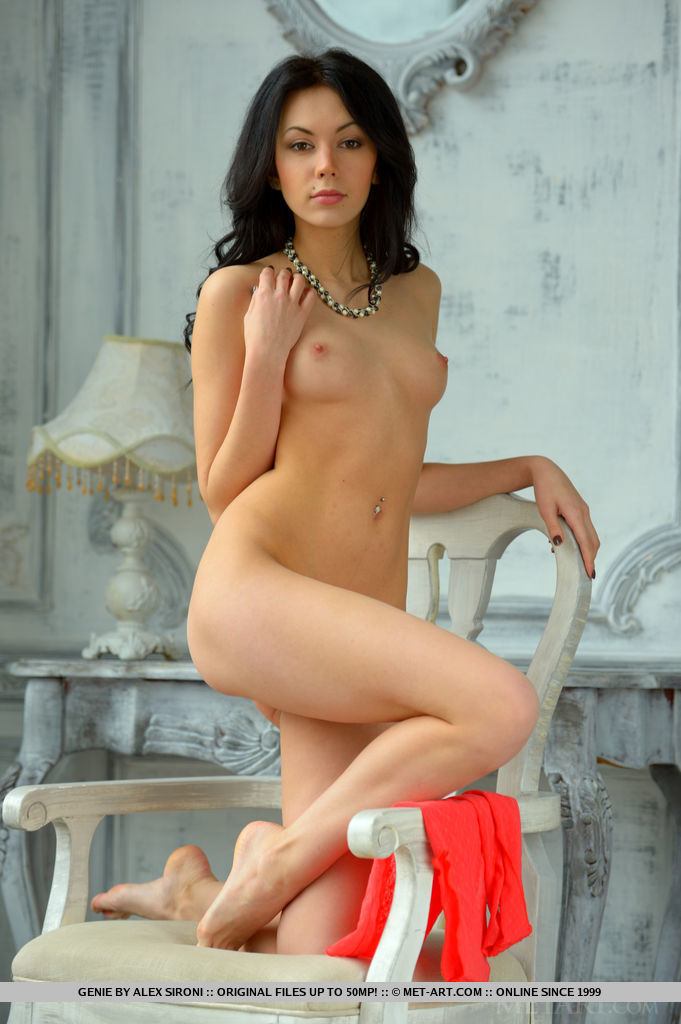 Newcomer Genie dazzles us with her nubile body with small puffy breasts, and her seductive allure.