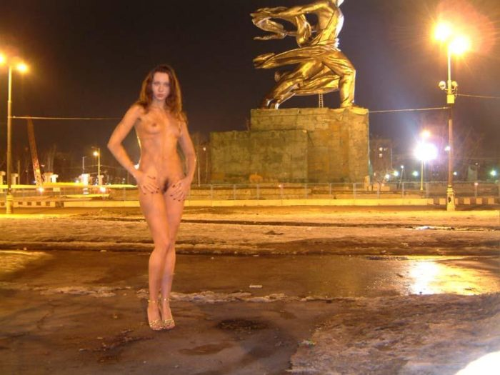 Old photos of russian girl Ulia at streets and in car