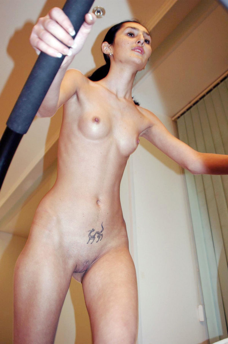 Hot girl masturbates with dildo