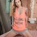 Hot girl Ginger Frost with sporty body