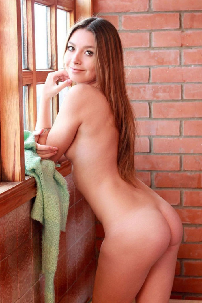 Very cute girl Vivienne posing at home