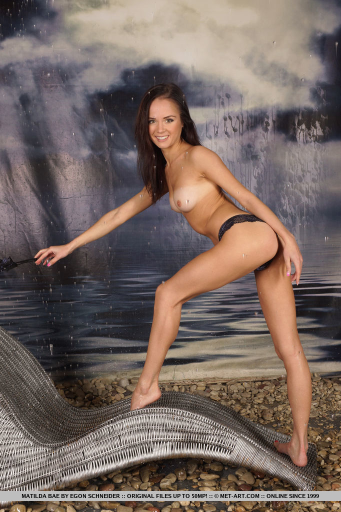Drenched and wet but still smoldering sexy, Matilda Bae raises the temperature further with her wide open, flexible poses.
