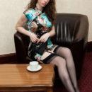 Sweet russian girl Maja A in stockings