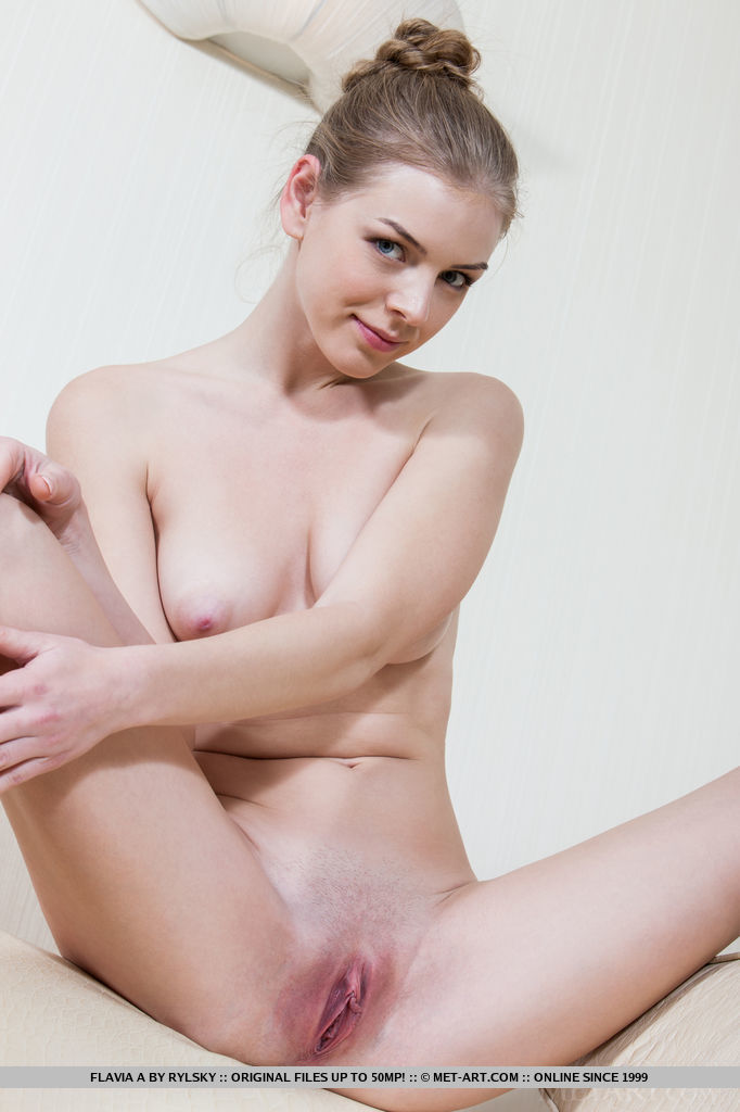Flavia A strips her dress baring her smooth, creamy body with pink, puffy nipples and   delectable pink pussy.