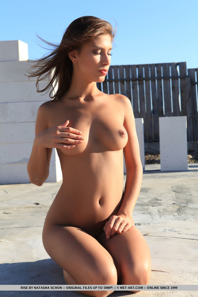 Rise strips outdoors as she flaunts her smoking hot body.