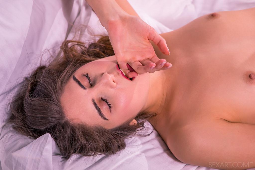 Luna Pica plunges her fingers inside her honey pot