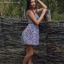 Sweet russian girl Alexa Day posing outdoors