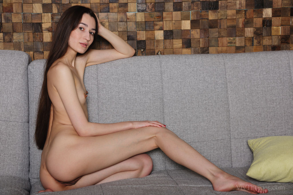 Sofia Lia shows off her long and slender physique, and smooth assets