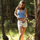Galina A loves taking leisurely walks and getting naked in the middle of the woods