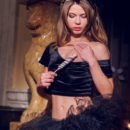Nedda A strips off her sexy witch costume and shows off her bewitching body
