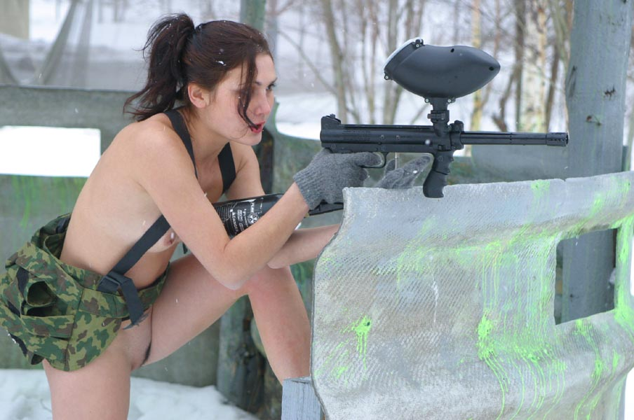 This guy is already taken by a paintball girl funny