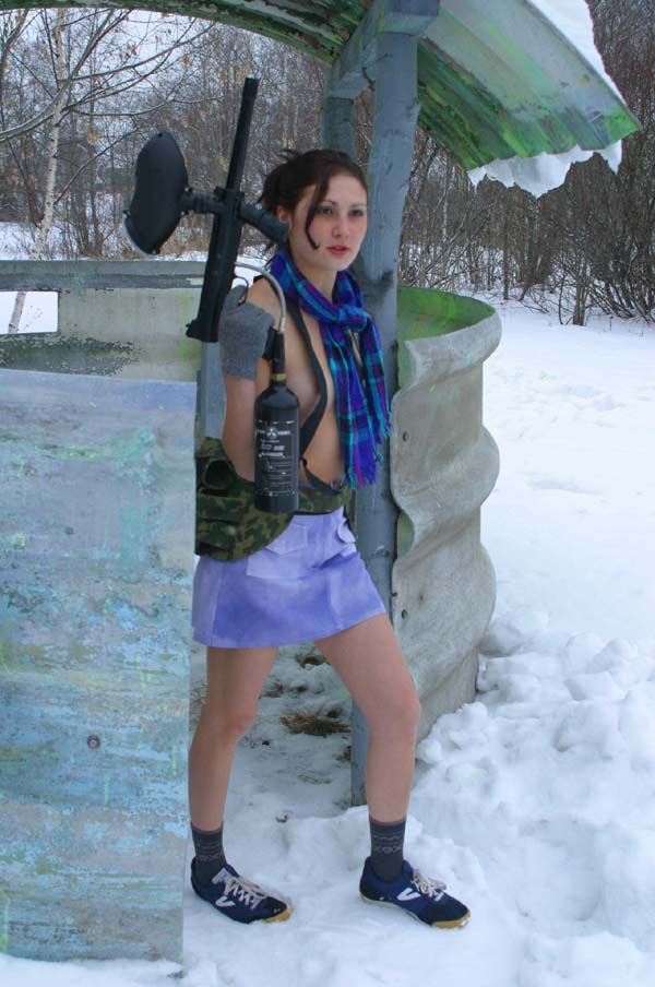 from Colten nude girl playing paintball