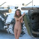 Nude russian girl Sveta S exposes at military facility