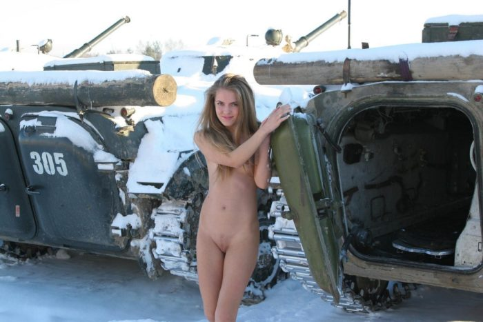 Nude russian girl Sveta S exposes at military facility