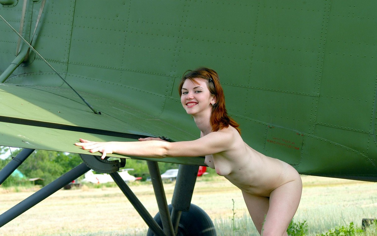 Plane on sexy girl
