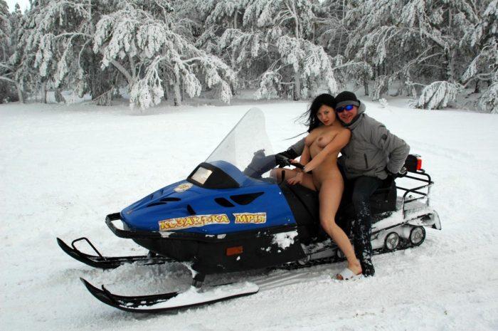 Nude Russian Girl Wants To Ride A Snowmobile  Russian Sexy Girls-3858