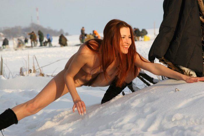 Russian fishermen can not distract from fishing