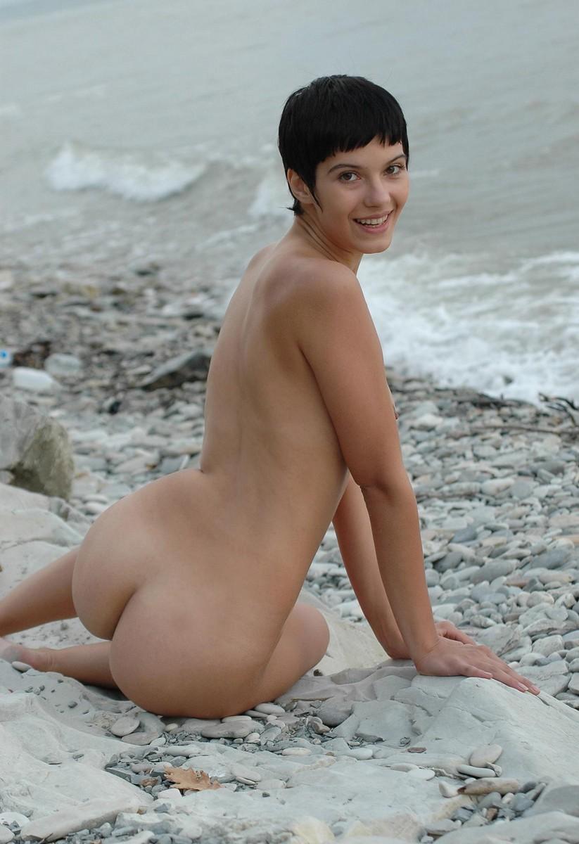 Brunette on beach