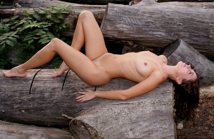 Very beautiful russian girl with gorgeous body outdoors