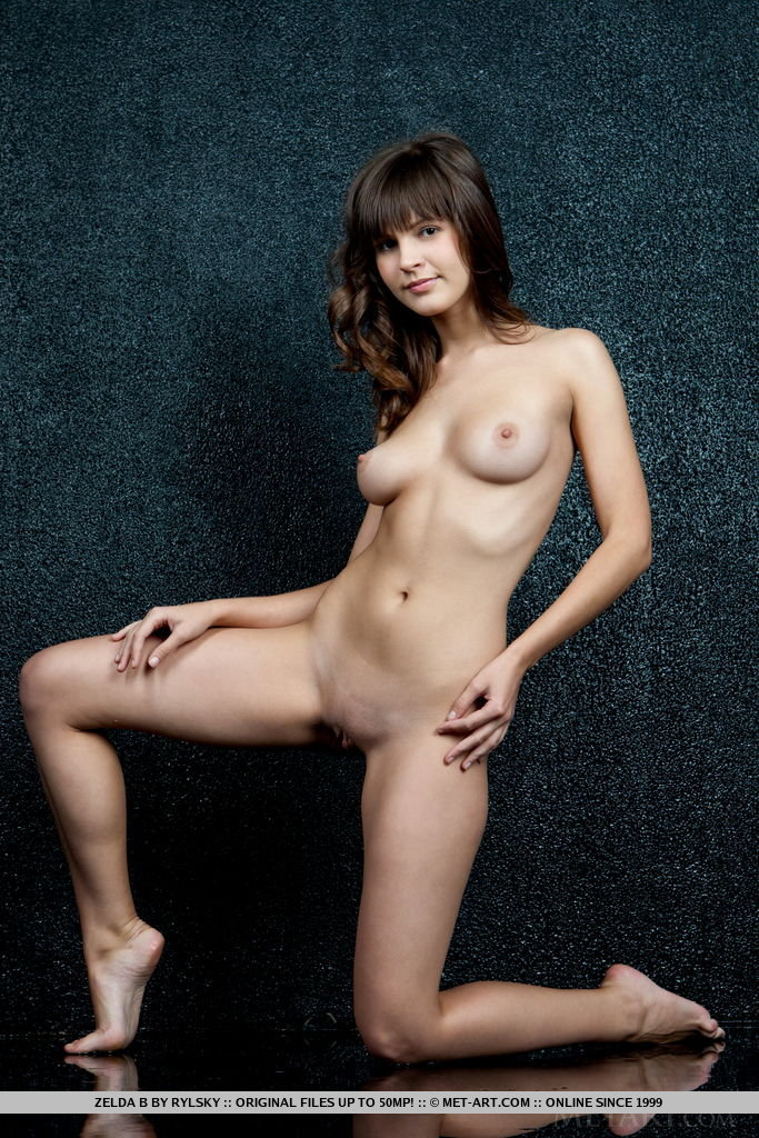 Zelda B s delicate beauty, her beautifully proportioned body standing out against the monotonous gray background
