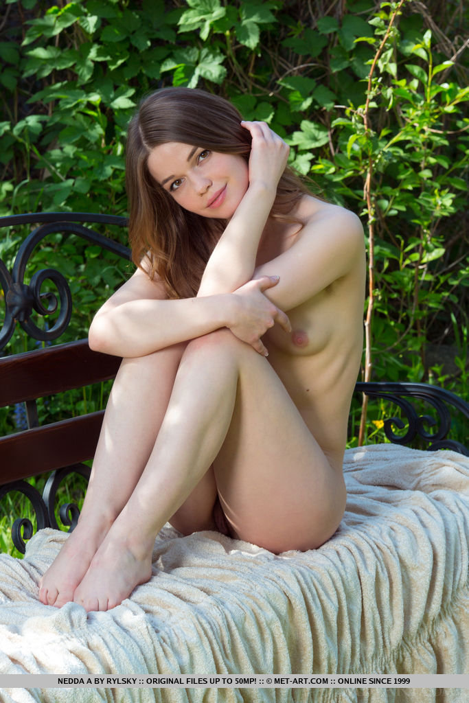 Nedda A confidently showcases her natural beauty and gorgeous assets in a outdoor shoot