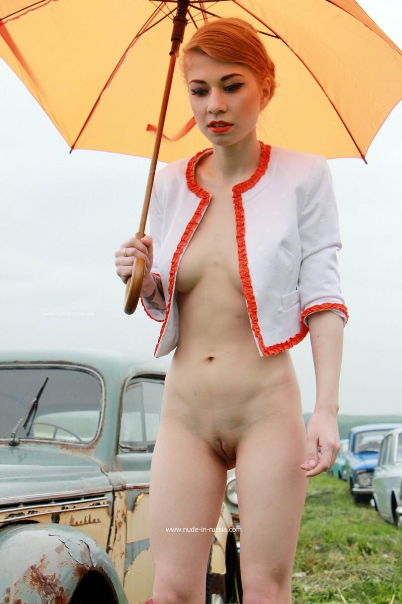 Nude girl on a bike-8784