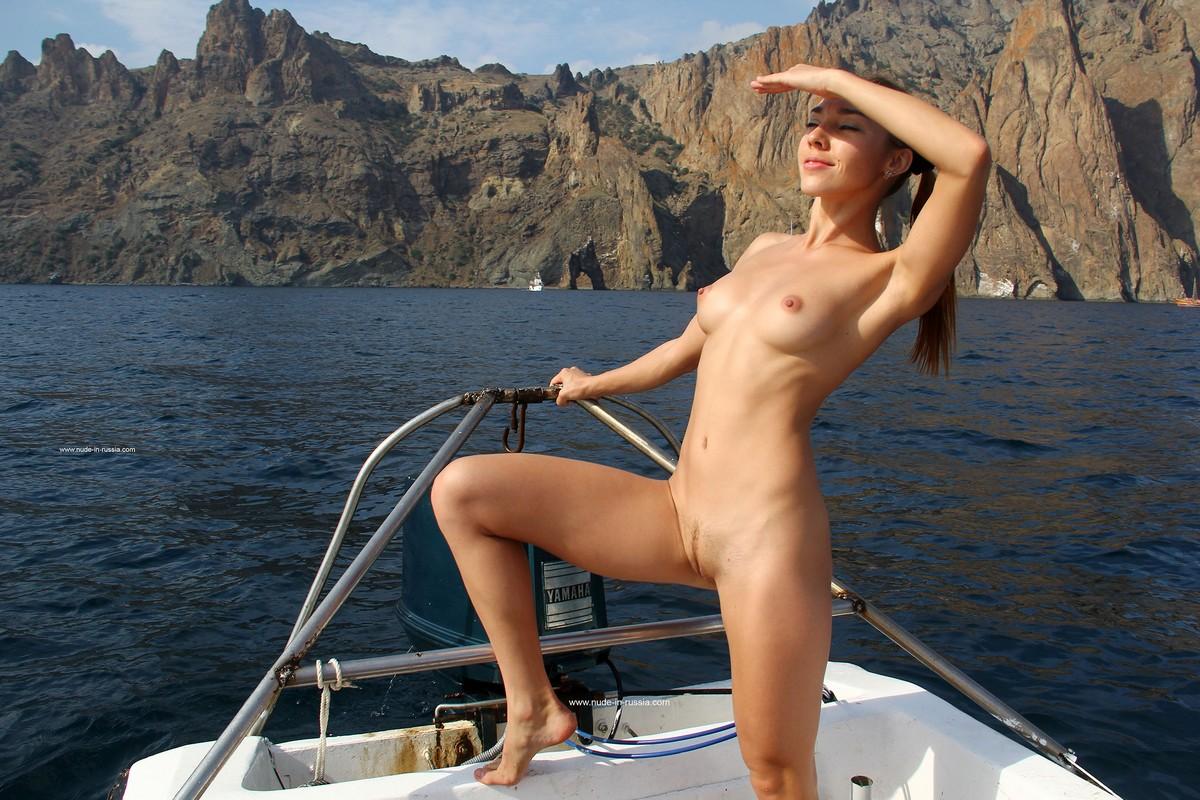 Naked on a boat pics horny black