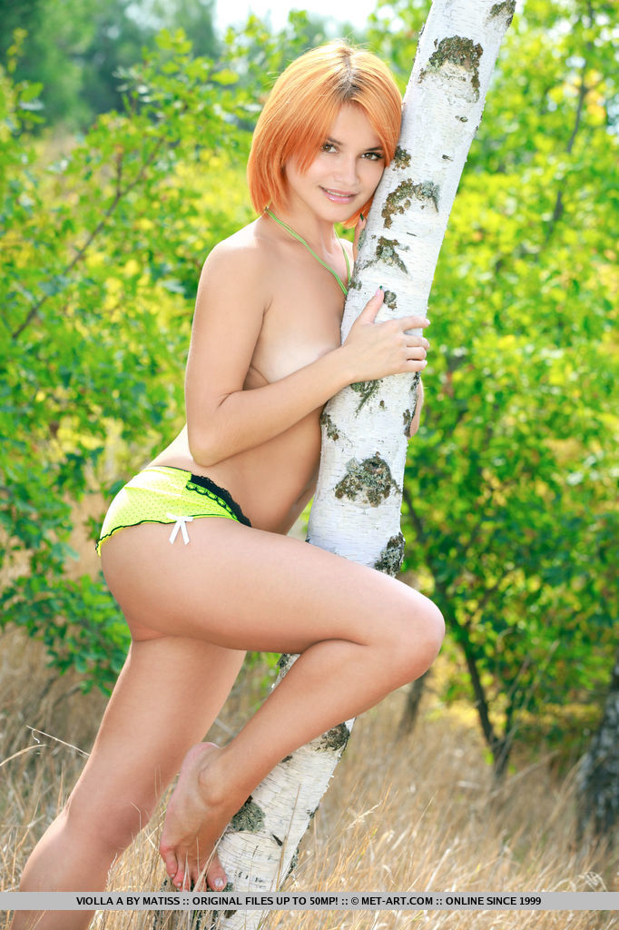 Violla A shows off her naughty parts outside