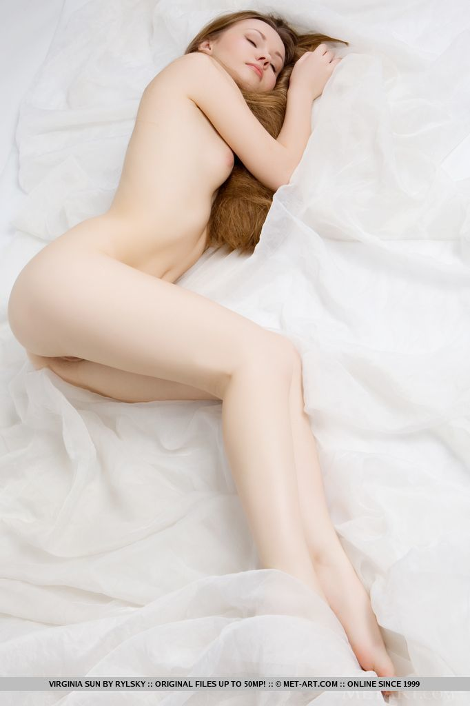 Pretty little Princess Virginia Sun is not bashful when it comes to showing off her small labia