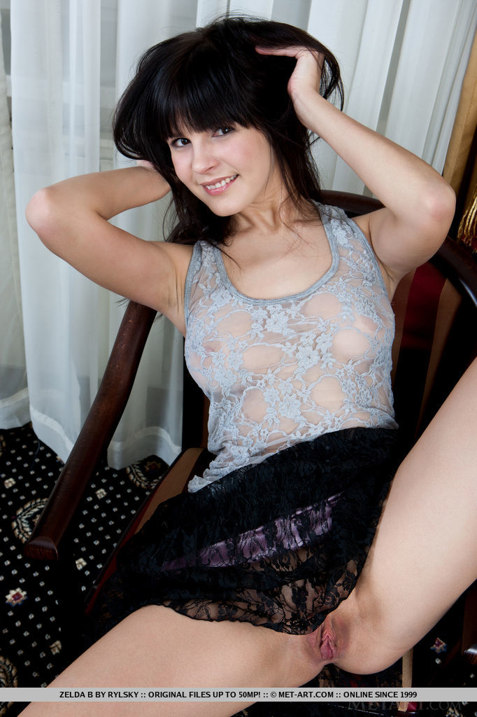 The ever-smiling Zelda B never fails to raise the room temperature with her endearing personality, playful poses, and erotic enthusiasm.