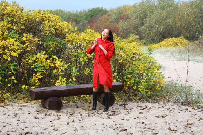 Russian girl Masha S on cold beach
