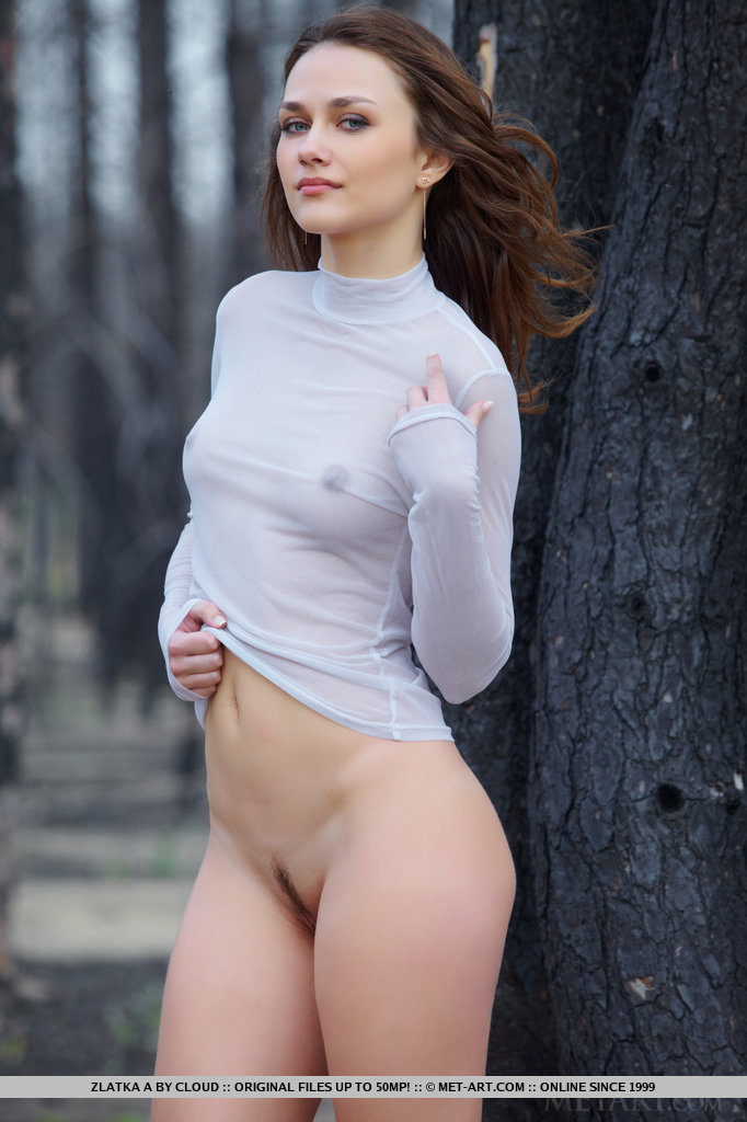 Zlatska's idea of unwinding on a weekend is teasing and flaunting her gorgeous body outdoors.